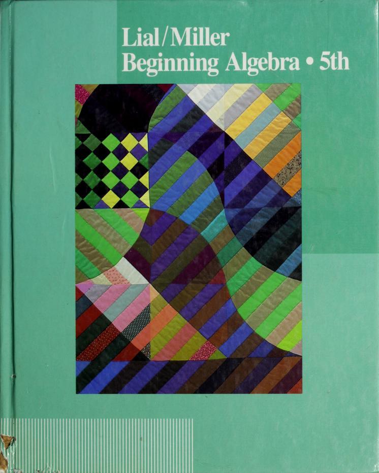 Beginning algebra by Margaret L. Lial